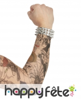 Paire de manches faux tatouages, 42cm, image 4