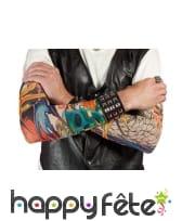 Paire de manches faux tatouages, 42cm, image 5