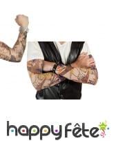 Paire de manches faux tatouages, 42cm