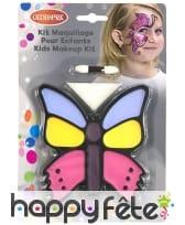 Palette de maquillage papillon avec pinceau