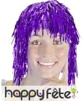 Perruque disco metal violet