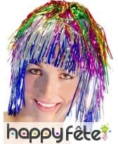 Perruque disco multicolore