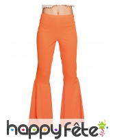 Pantalon disco orange pour femme adulte
