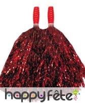 Paire de pompom rouge métal 23 cm