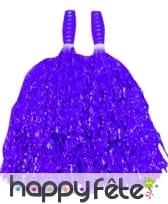 Paire de pompom violet/mauve métalisé