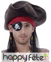 Perruque de pirate avec tricorne, image 1