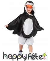Poncho de petit pingouin avec capuche