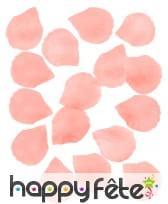 Pétales de rose saumon en tissu de 5 cm, par 100