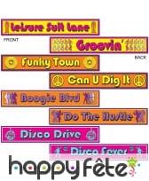 Panneaux de signalisation disco