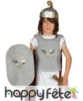 Panoplie de soldat romain enfant, coloris argent