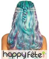Perruque de sirène bleu violet pour femme, image 1