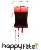 Poche de sang décorative de 16cm, image 1