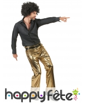 Pantalon doré uni pour homme, image 1