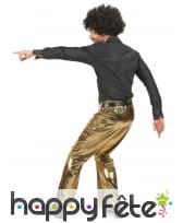 Pantalon doré uni pour homme, image 2