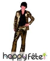 Pantalon doré uni pour homme, image 3