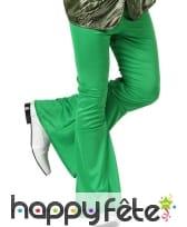 Pantalon disco vert pattes d'eph pour homme