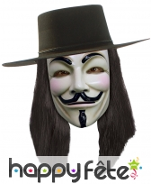 Perruque de V pour Vendetta