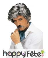 Perruque de vieux play boy avec moustaches grises, image 1