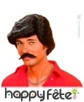 Perruque de vieux play boy avec moustaches