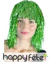 Perruque disco vert