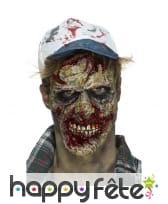 Prothèse de visage zombie en mousse de latex