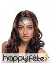 Perruque de Wonder Woman pour femme, luxe