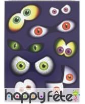 Paires d'yeux autocollants pour fenêtres