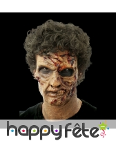 Prothèse de zombie défiguré en mousse