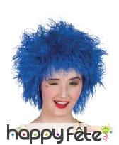 Perruque ébouriffée bleue