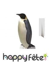 Pingouin en carton plat taille réelle