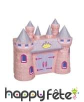 Pinata en forme de Château de princesse rose