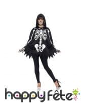 Poncho et gants squelette pour adulte