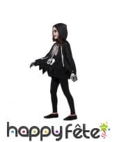 Poncho et gants squelette pour enfant, image 1