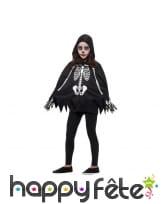 Poncho et gants squelette pour enfant