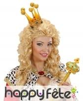 Petite et haute couronne dorée pour adulte
