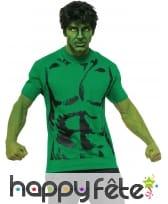 Perruque et T-shirt de Hulk pour homme