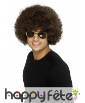Perruque funky afro brune