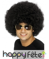 Perruque funky afro noir