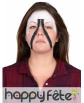 Postiche fermeture éclair de visage, image 1