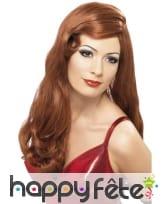 Perruque femme rousse, image 1