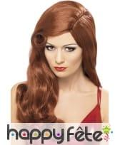 Perruque femme rousse