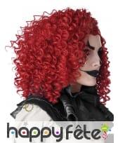 Perruque frisée rouge pour adulte, image 1
