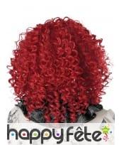 Perruque frisée rouge pour adulte, image 2