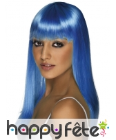 Perruque glamour bleue