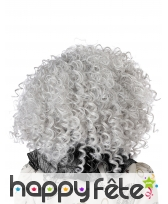 Perruque grise frisée pour adulte, image 2