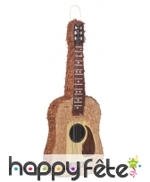Pinata guitare marron