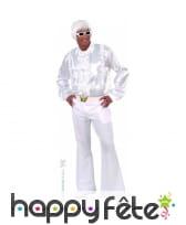 Pantalon homme blanc disco, image 4