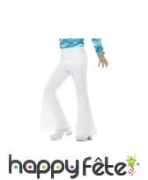 Pantalon homme blanc disco, image 5