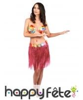Pagne hawaïen court ceinture fleurie, image 4