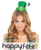 Petit haut de forme Saint Patrick sur serre tête, image 1